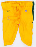 Football Collectibles:Uniforms, 1999 Green Bay Packers Game Worn Pants....