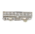 Estate Jewelry:Other , Diamond, White Gold Bead Spacer. ...