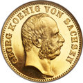 German States, German States: Saxony. Georg gold Proof 10 Mark 1903-E PR64 NGC,...