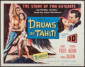 "Movie Posters:Adventure, Drums of Tahiti (Columbia, 1954). Half Sheet (22"" X 28"") 3-D Style& Window Card (14"" X 22"") 3-D Style. Adventure.. ... (Total: 2Items)"