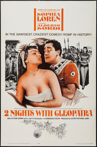 "Two Nights with Cleopatra & Others Lot (Ultra Film, 1964). One Sheets (2) (27"" X 41"") & Promo (8 Pages..."