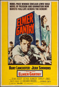 "Movie Posters:Drama, Elmer Gantry (United Artists, 1960). Poster (40"" X 60"") Style Y. Drama.. ..."
