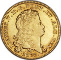 Brazil, Brazil: Joao V gold 6400 Reis (Peça) 1733/32-M XF Mount Removed,...