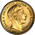 German States:Prussia, German States: Prussia. Wilhelm II gold Proof 20 Mark 1909-J PR67Ultra Cameo NGC,...