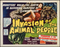 """Movie Posters:Science Fiction, Invasion of the Animal People (A.D.P., 1962). Half Sheet (22"""" X28""""). Science Fiction.. ..."""