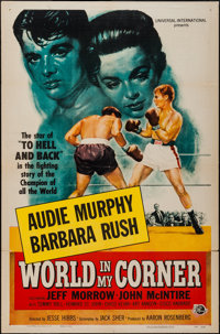 "World in My Corner (Universal International, 1956). One Sheet (27"" X 41""). Sports"