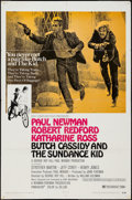 """Movie Posters:Western, Butch Cassidy and the Sundance Kid (20th Century Fox, 1969 & R-1973). One Sheet (27"""" X 41"""") Style B & Uncut Pressbook (Multi... (Total: 2 Items)"""