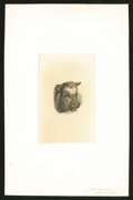 Miscellaneous:Other, Smillie Die Proof - Steer's Head Vignette.. ...