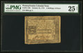 Colonial Notes:Pennsylvania, Pennsylvania October 25, 1775 2s 6d PMG Very Fine 25 Net.. ...