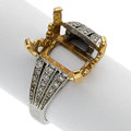 Estate Jewelry:Rings, Diamond, Platinum, Gold Semi-Mount. ...