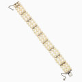 Estate Jewelry:Bracelets, Cultured Pearl, Synthetic Spinel, White Gold Bracelet. ...
