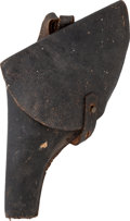 Military & Patriotic:Civil War, Unusual, Very Possibly Confederate Civil War Holster for a Pocket Model Size Percussion Revolver. ...