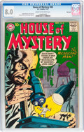 Silver Age (1956-1969):Horror, House of Mystery #68 Big Apple pedigree (DC, 1957) CGC VF 8.0 Creamto off-white pages....