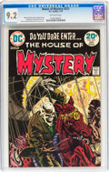 Bronze Age (1970-1979):Horror, House of Mystery #221 (DC, 1974) CGC NM- 9.2 Off-white pages....