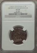 Guatemala: Philip IV Counterstamped 2 Reales ND (1662) VF20 NGC
