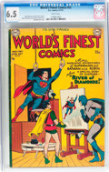 Golden Age (1938-1955):Superhero, World's Finest Comics #52 (DC, 1951) CGC FN+ 6.5 White pages....