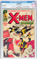 Silver Age (1956-1969):Superhero, X-Men #1 (Marvel, 1963) CGC VG 4.0 Off-white to white pages....