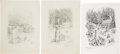 Books:Original Art, Pair of Pencil Studies for the Very First Little HouseIllustrations. Circa 1940. Ultimately unused. Includes se...(Total: 60 Items)