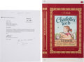 Books:Prints & Leaves, Dust Jacket Proof for a Special Edition of Charlotte's Web. Included is a facsimile of a letter originally enclosed ... (Total: 3 Items)