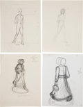 Books:Original Art, Group of Sixteen Pencil Studies of Laura Ingalls Wilder for theFranklin Mint Character. Circa 1980. Most are either initi...(Total: 16 Items)