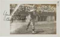 1911 Christy Mathewson Signed Photograph from The Frank W. Smith Collection, PSA/DNA Mint 9
