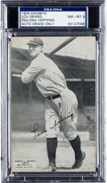Autographs:Sports Cards, The Finest Known Signed 1925 Exhibits Lou Gehrig Rookie Card, PSA/DNA NM-MT 8. ...