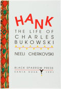 Books:Biography & Memoir, Neeli Cherkovski. SIGNED. Hank. The Life of Charles Bukowski. New York: Random House, 1991. Limited to 200 copie...