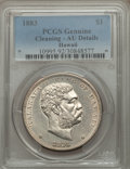 Coins of Hawaii: , 1883 $1 Hawaii Dollar -- Cleaning -- PCGS Genuine. AU Details. NGCCensus: (30/182). PCGS Population (64/200). Mintage: 500...