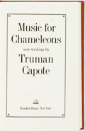 Books:Literature 1900-up, Truman Capote. SIGNED/LIMITED. Music for Chameleons. New York: Random House, [1980]. First edition, limited to 350 n...