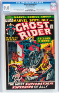 Bronze Age (1970-1979):Superhero, Marvel Spotlight #5 Ghost Rider (Marvel, 1972) CGC VF/NM 9.0Off-white to white pages....
