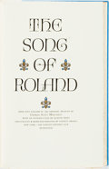 Books:Fine Press & Book Arts, [Limited Editions Club] Valenti Angelo, illustrator. SIGNED.Charles Scott Moncrieff, translator. The Song of Roland. ...