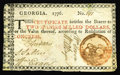 Colonial Notes:Georgia, Georgia 1776 $2 Very Fine. This is a rare note in any grade. Allfive signatures on this Georgia note are bold and legible. ...