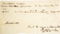 "Autographs:Statesmen, Paul Revere Autograph Document Signed Twice as ""Paul Revere& Son"". One page with docketing on verso, 8"" x 4.5"", plainp..."