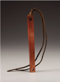American Indian Art, A PLAINS CATLINITE QUIRT. . c. 1880. ...