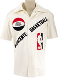 Basketball Collectibles:Uniforms, 1975-76 Artis Gilmore ABA/NBA Tour of Japan Game Worn Warm-UpJacket. Widely considered to be one of the most glaring omiss...