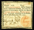 Colonial Notes:Georgia, Georgia June 8, 1777 $4 Very Fine. This seldom seen Georgia note comes in two varieties, with this the scarcer version where...