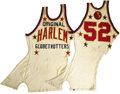 Basketball Collectibles:Uniforms, 1958 Harlem Globetrotters Game Worn Jersey. So condition may not befirst-rate, but it's still a rare opportunity to own a ...