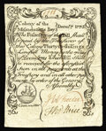 Colonial Notes:Massachusetts, Massachusetts December 7, 1775 36s Contemporary Counterfeit ChoiceExtremely Fine. This is one of the more deceptive contemp...