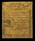 Colonial Notes:Massachusetts, Massachusetts 1779 1s Very Good. The paper on this note is thickand firm though well aged and spotted....