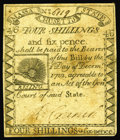 Colonial Notes:Massachusetts, Massachusetts 1779 4s/6d Very Fine. A beautiful problem-free RisingSun note, with perfect paper quality for the grade. Ther...