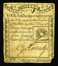 Colonial Notes:Massachusetts, Massachusetts 1779 4s8d Extremely Fine. A lovely, lightlycirculated Rising Sun note, with broad margins and perfectprintin...