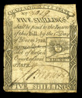 Colonial Notes:Massachusetts, Massachusetts 1779 5s Very Fine. This piece was once two and hasbeen expertly repaired....