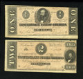 Confederate Notes:1864 Issues, T70 $2 1864. T71 $1 1864.. ... (Total: 2 notes)