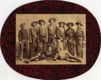 """A Photograph of Buffalo Bill's Wild West Cast - Including Bill's Unofficial Foster Son Johnny Baker  This 8"""" x 6&qu..."""