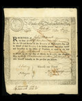 Colonial Notes:Massachusetts, Massachusetts Treasury Certificate Mar. 1, 1781 Very Fine. A few asusual edge splits are found on this MA-10 that does not ...