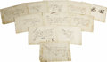 Autographs:Statesmen, The Vinta Exemplar: A Handwritten Collection of Twelve BifoliaLeaves and One Single Leaf Mentioning Belisario Vinta, Friend t...(Total: 1 Item)