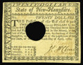 Colonial Notes:New Hampshire, New Hampshire April 29, 1780 $20 Extremely Fine-About New. A foldis noticed on this cancelled example which possibly was we...