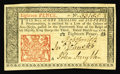 Colonial Notes:New Jersey, New Jersey March 25, 1776 18d Very Choice New. Nice marginssurround this early piece that has strong signatures and deep in...