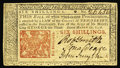 Colonial Notes:New Jersey, New Jersey March 25, 1776 6s Very Choice New. A well-margined,boldly signed, crisp and clean example with a sharp red New J...