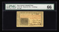 Colonial Notes:New Jersey, New Jersey March 25, 1776 15s PMG Gem Uncirculated 66. Broad, even margins, strong signatures and super eye appeal all combi...